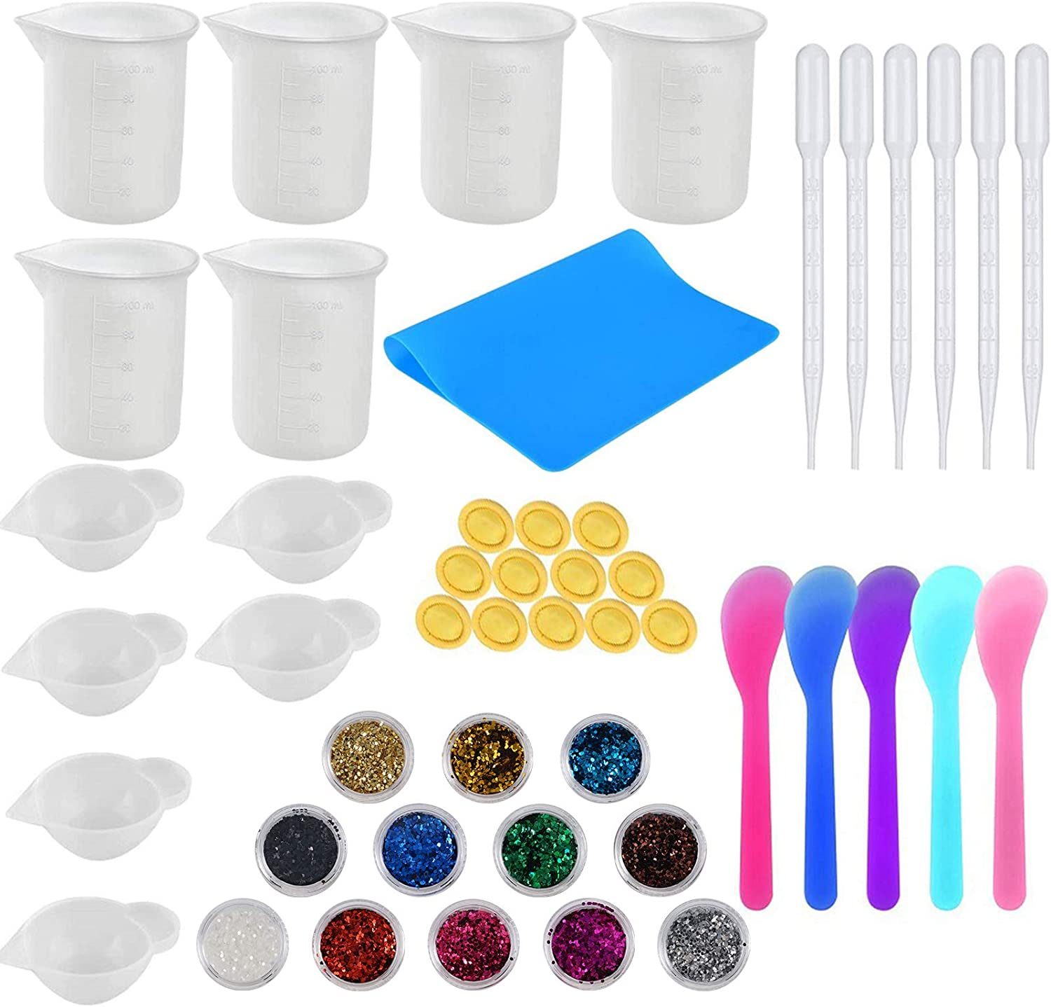 Superior OKAYC Silicone Resin Measuring Max 69% OFF Cups Tool Mea Kit 100ml