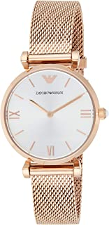 Emporio Armani Women's Ar1956 Retro Rose Gold Watch, Analog Display