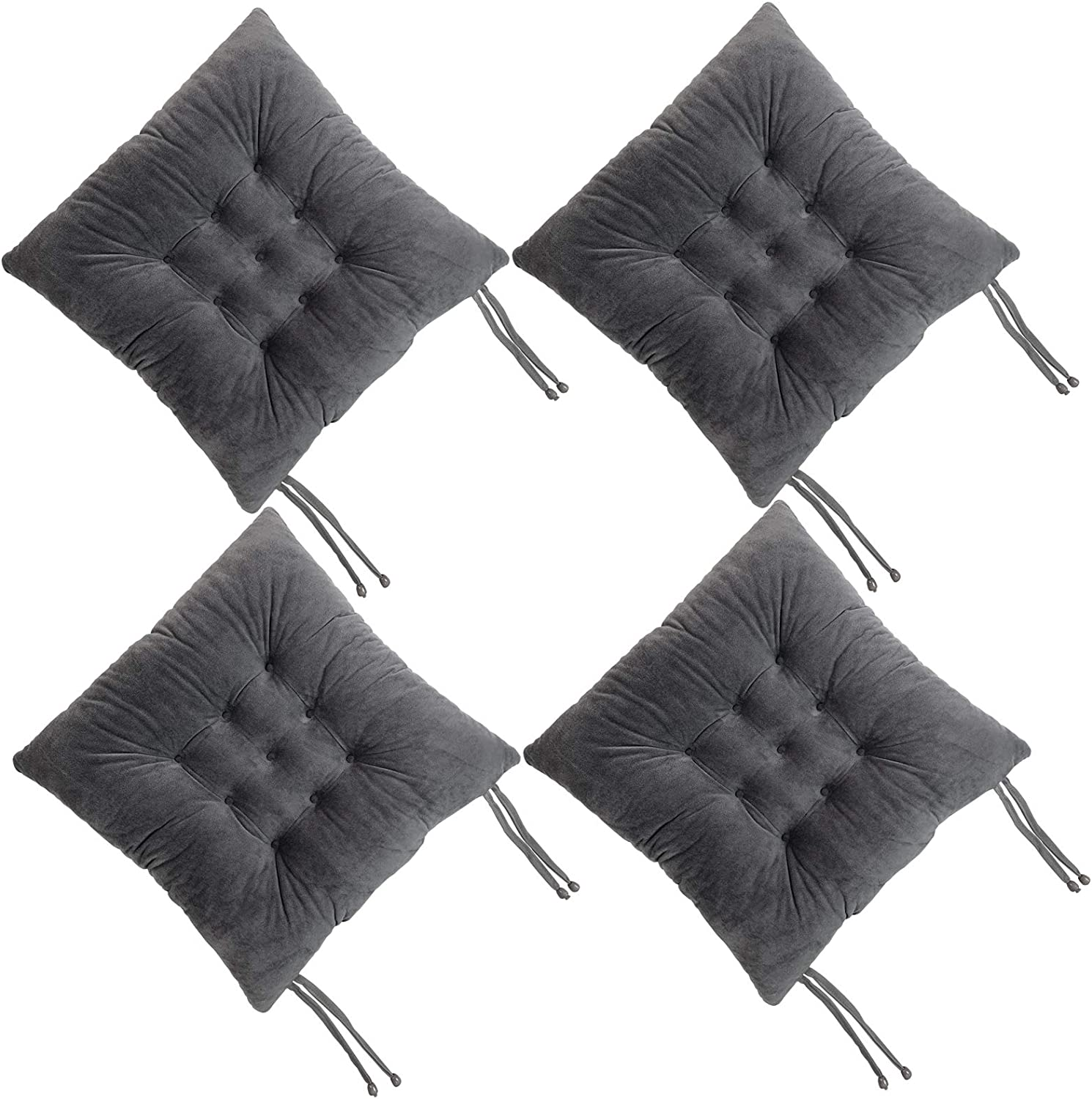 RULLENY Set of 4 Chair Pads and Slip with Non Seat Ties Las Vegas Mall Cushions sold out