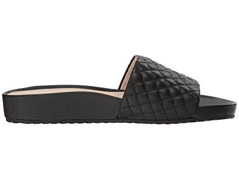 Slide Black Pinch Quilted G OS LeatherOptic Leather Montauk Quilted Cole Haan White Zqg4x1g
