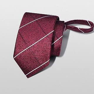 Zip-tie Solid Color Tie Men Striped Business Suit Multiple Colors Tie 48 × 6cm CQQO (Color : E)