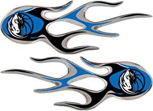 Team ProMark Dallas Mavericks 2-Pack Drip Molded Plastic Raised Flame Flames Decal Emblem Sticker Basketball