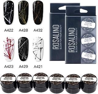 ROSALIND Nail Art Spider Gel Diseño de bricolaje Punto para dibujo en línea y pintura Decoración Dibujar Barniz de seda 5 ...