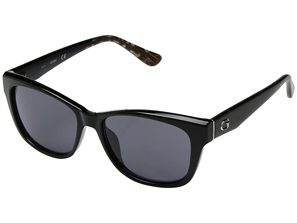 GUESS GU7538 (Shiny Black/Smoke) Fashion Sunglasses