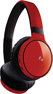 Philips SHB9100 Bluetooth Stereo Headphones Red