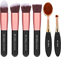 BS-MALL Face Foundation Powder Liquid Cream Oval Makeup Brushes Set Synthetic Makeup..