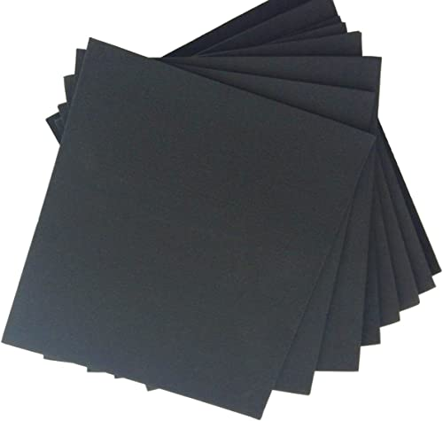 """XCEL Large Rubber Sheets Value Pack, Neoprene, 8 Piece 9"""" x 10"""" Assorted Thickness DIY for Gasket Material, Made in U..."""