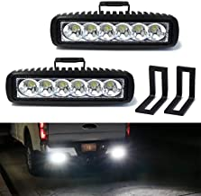 iJDMTOY Under Bumper LED Reverse Light Bar Kit For 2015-up Ford F150 & 17-up Raptor, Includes (2) 9W High Power LED Light Bars & Under Bumper Bolt-On Mounting Brackets