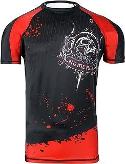 Tigon Sports MMA Rash Guard Compression Base Layer Short Sleeve Mens Black
