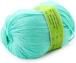 Joylve Knitting Yarn Skein Baby Super Smooth Worsted Soft Natural Silk Wool Fiber Aqua Green