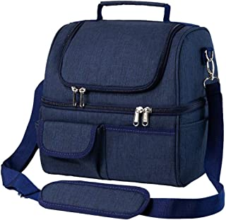 BRITOR Insulated Lunch Bags for Women&Men - Dual Compartment, Leakproof 22 Can Extra LargeLunch Bag, Roomy Reusable Therma...
