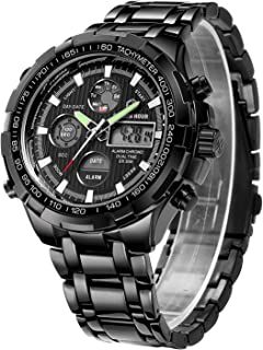 Luxury Full Steel Analog Digital Watches for Men Led Male...