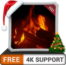 FREE Warm Fireplace HD - Enjoy the Cold Winter Nights on Christmas Holiday on your HDR 4K TV, 8K TV and Fire Devices as a wallpaper  & Theme for Mediation & Peace