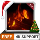 cheminée chaude HD gratuite - profitez des nuits froides d'hiver pendant les vacances de Noël sur votre téléviseur HDR 4K, votre téléviseur 8K et vos appareils de tir comme fond d'écran et thème pour