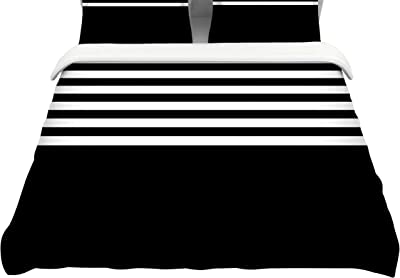 104 x 88 Kess InHouse Trebam Celik v3 Magenta Black Cotton King Duvet Cover