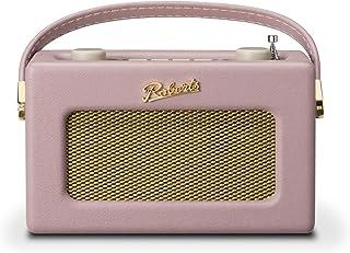 Roberts Revival Uno Retro Portable/Compact DAB/DAB+/FM Digital Radio with Alarm Clock Radio, Dusky Pink