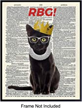 Ruth Bader Ginsburg Cat - Wall Art Print on Dictionary Photo - Ready to Frame (8X10) Vintage Photo - Great Home Decor or Gift For Lawyers or Attorneys