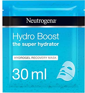 Neutrogena Hydrating Face Mask Sheet, The Super Hydrator, Hydro Boost Hydrogel Recovery, 30ml