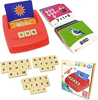 Flash Cards Matching Sight Words Alphabet & Math Board Games Toys for Toddlers & Kids – ABC Educational Learning Montessor...