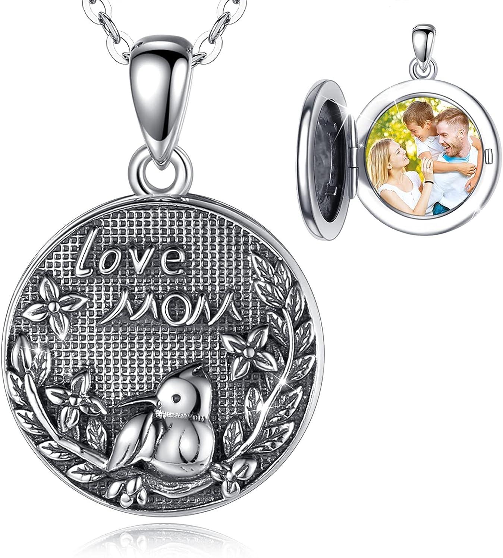 Brand new UNIWO 925 Sterling Silver Direct store Custom Personal Photo Ne Circle Locket