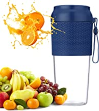 Aveloki Portable Mini Blender,Personal Blender Juicer, Mini Mixer, Magnetic Secure Charging Waterproof Smoothie Blender With USB Rechargeable, for Home, Office, Sports, Travel, Outdoors(Blue)