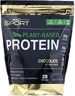 California Gold Nutrition Chocolate Plant-Based Protein, Vegan, Easy to Digest, 2 lb (907 g)