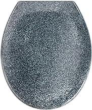 WENKO Premium wc-bril Ottana graniet - antibacteriële toiletbril, automatisch sluitend, roestvrije Fix-Clip Hygiëne roestv...