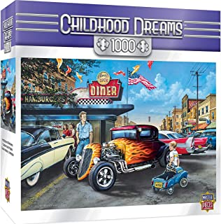 MasterPieces Childhood Dreams Jigsaw Puzzle, Hot Rods and Milkshakes, Featuring Art by Dan Hatala, 1000 Pieces