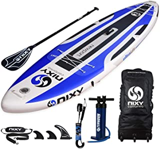"""NIXY Newport Paddle Board All Around Inflatable SUP 10`6"""" x 33"""" x 6"""" Ultra-Light Stand Up Paddleboard Built with Dual Layer Dropstitch Includes Paddle, Leash, Pump, Shoulder Strap, and Bag"""