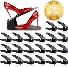 ZNCMRR Shoe Slots Organizer for Closet 20 Pack Adjustable Shoe Stacker Space Saver,Double Layer Shoe Rack Organizer Holder...