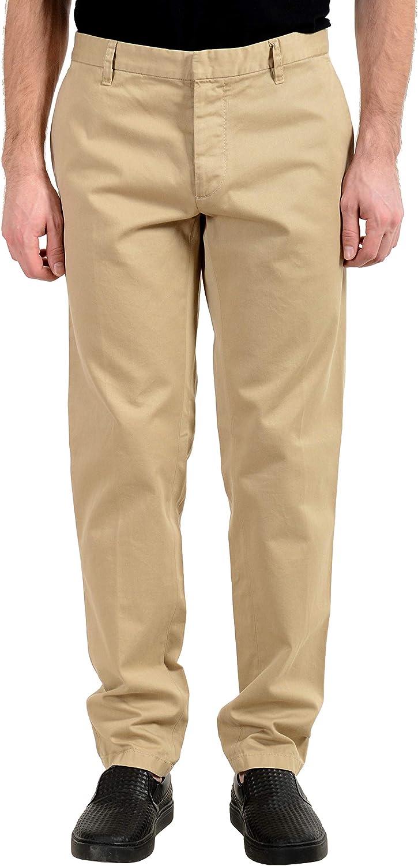 DSQUARED2 Men's Beige Flat Front Casual Pants US 36 IT 52