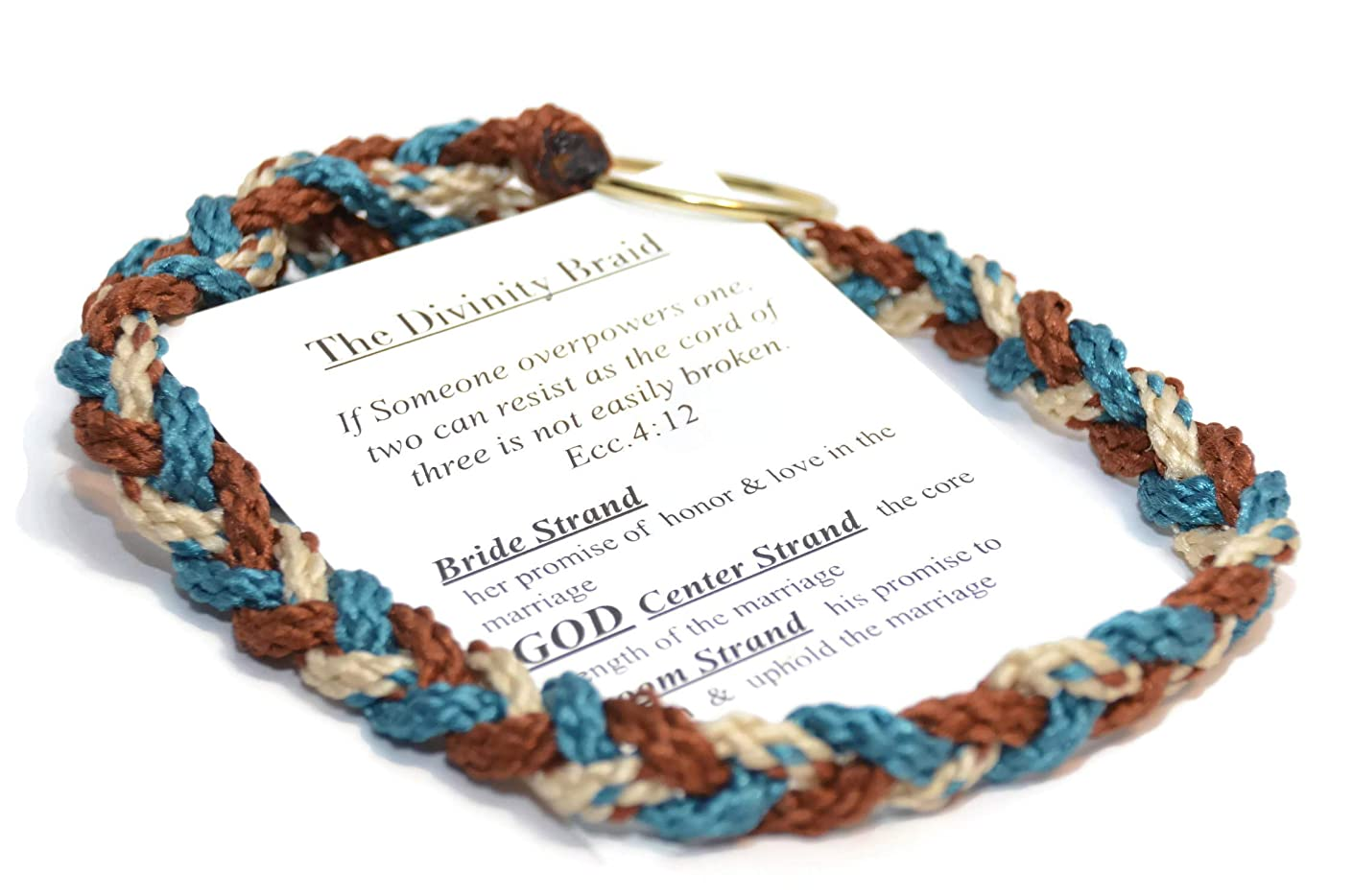 Cord of Three Strands Denim Blend #DivinityBraid #Christian #Wedding #UnityKnot