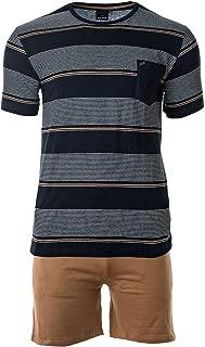 DANIEL HECHTER Herren Schlafanzug Set kurz V-Ausschnitt blau Baumwolle