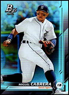 2019 Bowman Platinum Baseball #89 Miguel Cabrera Detroit Tigers Official Retail Exclusive Trading Card From Topps