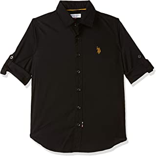 US Polo Association USPA Kids Baby Boys' Checkered Regular Fit Shirt