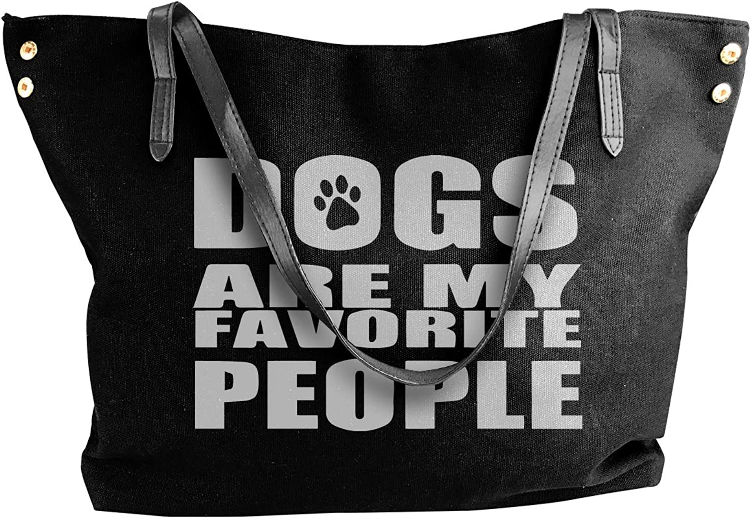 Dogs Are My Favorite People Women'S Casual Canvas Shoulder Bag For Travel Handbag