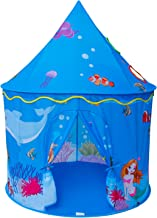Homfu Play Tent for Kids Mermaid Castle Playhouse for Boys Girls Sea World Pattern Children Tent As Gift