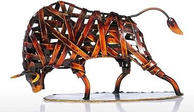 Tooarts Scultura Moderna Animali Ferro Rosso Tessitura Bestiame Dono Tecnologia di Statuetta Arte Moderna Home Decor