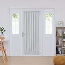 Deconovo Door Panel Drape Blackout Rod Pocket Curtains Blackout Thermal Insulated Window Curtain 54x72 Inch Greyish White 1 Panel