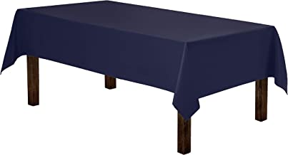 Gee Di Moda Rectangle Tablecloth - 60 x 84 Inch - Navy Blue Rectangular Table Cloth for 5 Foot Table in Washable Polyester - Great for Buffet Table, Parties, Holiday Dinner, Wedding & More