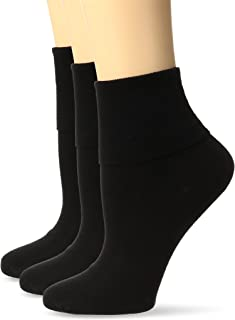 Women's Cotton Basic Cuff Sock 3-Pack