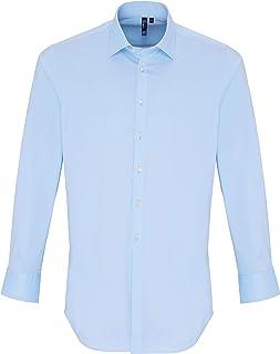 PREMIER PR244 Men's Stretch Fit Cotton Poplin Long Sleeve Shirt