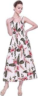 فستان هاواي ماكسي بدون أكمام للنساء في رافيلسيا