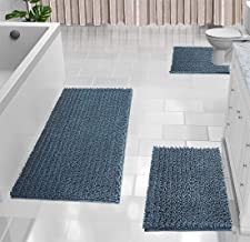 Yimobra 3 Piece Shaggy Chenille Bath Mat Sets, Extra Large Bathroom Mats 44.1x24 + Bathroom Rugs 31.5x19.8 + Toilet Mat 2...