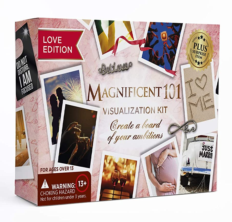 Magnificent Vision Board Kit - Create a Vision for Your Dream Life - Use The Power of Visualization to Achieve Your Dreams (b - Love Edition)