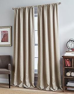 "Peri Home Grand Mystic Curtain Panel, 84"", Linen"