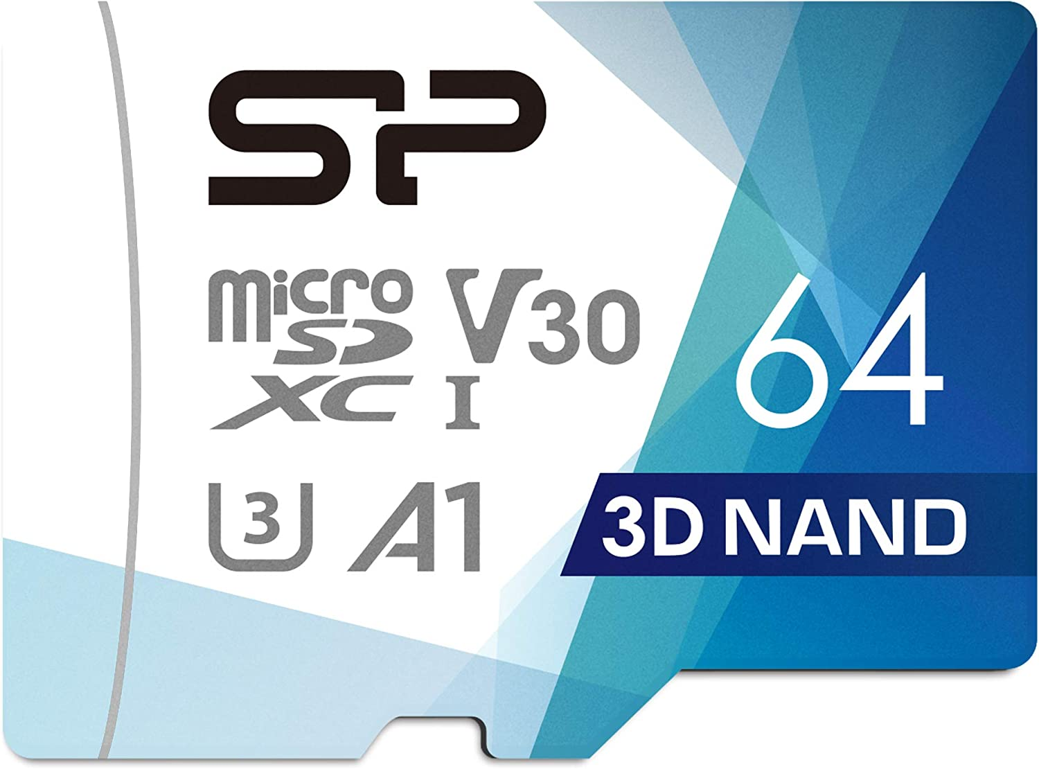 Silicon Power 64GB Micro SDXC UHS-I (U3), V30 4K A1, High Speed MicroSD Card with Adapter