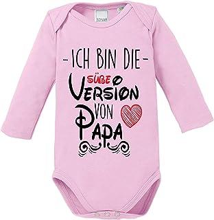 Ezyshirt Ich bin die süße Version von Papa Bester Papa der Welt Body Baby Langarm Bio Baumwolle