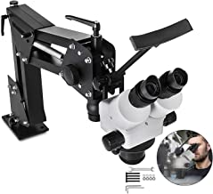 VEVOR Micro Inlaid Mirror Multi-Directional Microscope with Spring Bracket 7X-4.5X Multi-Directional Micro-Setting Microscope Jewelry Tools