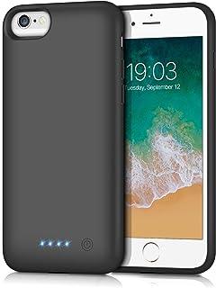 kilponen Funda Batería para iPhone 6/6S/7/8, [6000mAh] Funda Cargador Portatil Batería Externa Ultra Carcasa Batería Recargable Power Bank Case para iPhone 6/6S/7/8 (4.7 Pulgadas)